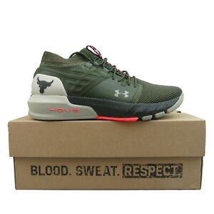 Under Armour Project Rock 2 Training Gym Shoes Green NEW 3022024-301 Mens Size