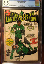 Green Lantern 87 CGC 8.5 White Pages DC  12/71-1/72 1st John Stewart
