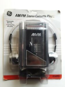 Vintage General Electric 3-5470S Portable AM/FM Stereo Cassette Player GE New