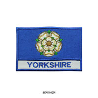 YORKSHIRE County Flag With Name Embroidered Patch Iron on Sew On Badge