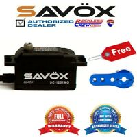 Savox SC-1251MG-BE High Speed Low Profile Servo+ Free Aluminium servo horn Blue