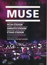MUSE - magazine advert for the 2013 tour dates - 28.4 x 20.5 cms