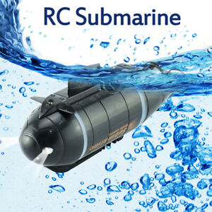 RC Mini Submarine Remote Control 6CH Electric Diving Ship Boat Kids Toys Gift