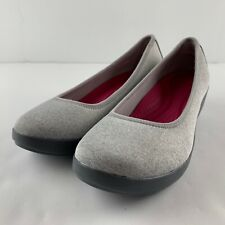 Crocs Busy Day Heathered Ballet Wedge Pump Women 10 Stretch Fabric Loafer Shoe