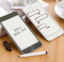 Apple IPhone Shape Magnetic Memo Pad Magnet Fridge Notes Board Shopping List