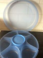 TUPPERWARE Dip & Nibbles Serving Centre  Ice Blue Base and Seal Dip Container