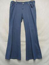 A7390 Levi's Big E Blue Panatela Bell Bottom Polyester Cool Pants Women 34x30