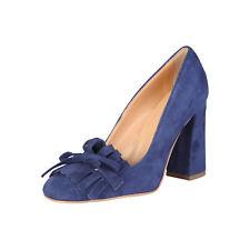 Calzado de mujer azules de piel, talla 40