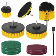 12PCS Electric Drill Brush Power  Scrubber Tub Cleaning Grout Cleaner Combo Tool