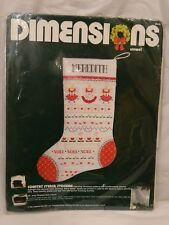 Dimensions Crewel Country Stencil Stocking #8048 NIP 1985 Candlewicking Christma