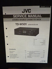 ORIGINALI service manual JVC STEREO DOUBLE CASSETTE DECK td-w501