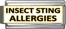 INSECT STING ALLERGIES ID Italian 9mm SuperLink ME160 Fits Nomination Classic