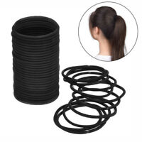 ITS- 100Pcs Black Thick Endless Hair Elastics Hairbands Ponytail Hair Ties Salab