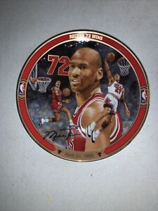 """Michael Jordan Upper  Deck """"Record 72 Win"""" Collectors Plate #9019B"""