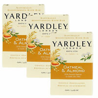 (3 Pack) Yardley London Oatmeal & Almond Naturally Moisturizing Bath Bar 4.25 Oz