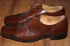 PIERRE CARDIN PARIS SIZE UK 10 EUR 44 MENS LEATHER BROGUE SLIP ON SHOES VERY GOO