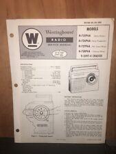 Westinghouse Service Manual for the H-725P6A,727P6A,728P6A Radio.Original