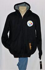 Pittsburgh Steelers Sherpa Hoodie Full Zip Sweatshirt Jacket M - NFL