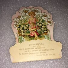 Vintage Stand Up Valentines Day Angels Card