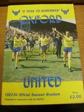 1983/1984 Oxford: Official Souvenir Brochure - A Year To Remember, Produced In C