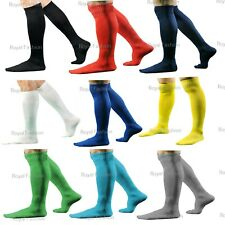 FOOTBALL SOCKS RUGBY HOCKEY SOCCER PLAIN LONG SPORTS SOCKS MEN'S BOYS GIRLS