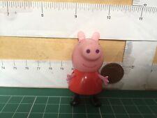 Peppa Pig Figure- Used Peppa Pig in pink dress