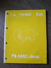 1983 Jeep Transmission Model 700/900 Workshop Manual   Free Shipping!