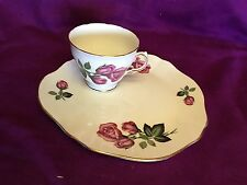 Royal Vale Bone China Breakfast Snack Plate With Cup with Flowers England