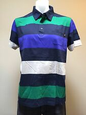 "Hugo Boss Orange LBL Mens ""Prankster"" Long Sleeve SZ XL Striped Polo Shirt $115"