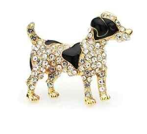 Jack Russell Terrier Brooch Lapel Pin Badge Trendy Fashion Enamel Dog Great Gift