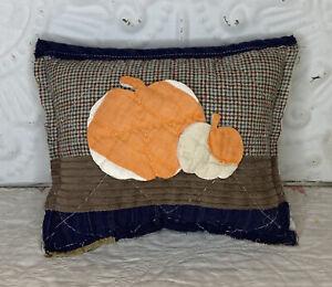 NEW Handmade Pumpkins Pillow Tuck Vintage Quilt  Chenille Bedspread Autumn Fall