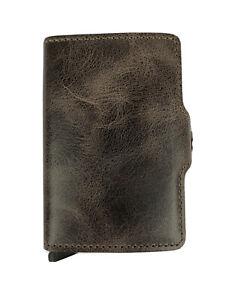 SECRID Twinwallet Vintage Chocolate Leather Wallet RFID Blocking Gift Christmas