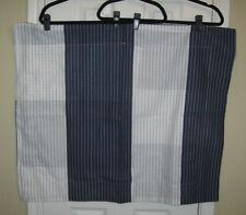 NWOT ~ Set of 2 MARTHA STEWART Navy & White Stripe STANDARD Pillow Shams
