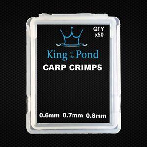 Carp crimps x50 0.80mm x 5mm -  matt black double crimps, carp fishing, rigs