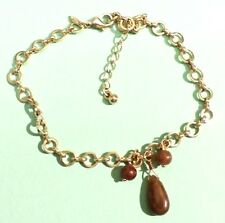 bracelet chaîne bijou vintage couleur or pampilles top qualité signé AVON  3086
