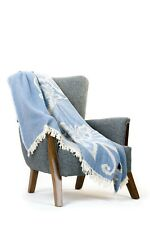 More details for 100% cotton bedspread blanket sofa bedding throw sette king oeko-tex luxury