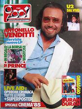 CIAO 2001 33 1985 Live Aid U2 Antonello Venditti Tullio De Piscopo Leonard Cohen