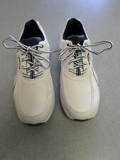 """Footjoy """"Greenjoys"""" white and black leather golf shoes, Men's 10 M"""
