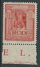 1932 EGEO PITTORICA 20 CENT MH * - M52