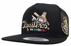 Tequileros De Jalisco Khaki 2 Logos Hat Black Mesh Logo Federal Mexico