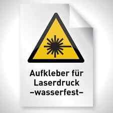 10x Outdoor Laser Kopierer Aufkleber Folie WEISS MATT wasserfest DIN A3 Drucken