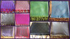 "100pc Art Silk SCARF STOLE Square Scarves Wholesale lot 77x21"" Silk Blend"
