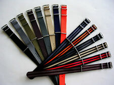 20mm Bonded striped NATO G10 nylon watch band strap fits weekender IW SUISSE USA