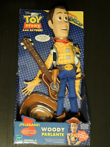 ULTRA RARE Toy Story Pull String Woody Speaks in Spanish - HASBRO 2002
