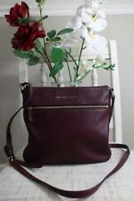 Michael Kors Plum Purple Pebbled Leather Crossbody Bag (130