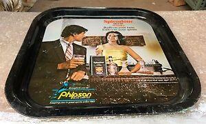 Vintage Rare Splendour Deluxe Whisky Phipson & Co Ltd Ad Litho Print Tin Tray