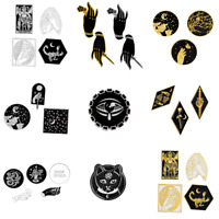 Pin Brooches Badges Backpack Night Moon Witch Goth Different Hard enamel lapel