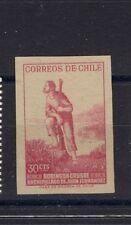 CHILE 1965 RARE imperforated proof Juan Fernandez Robinson Crusoe MACULATURA