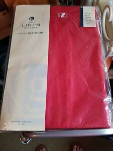 Easy Care 50% Polyester 50% cotton Bed Sheet Plain Dyed Red by The Linen Gallery