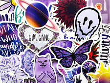 50 Purple Sticker Bomb Scrapbooking Journal Computer Skin Lot Bulk Decals
